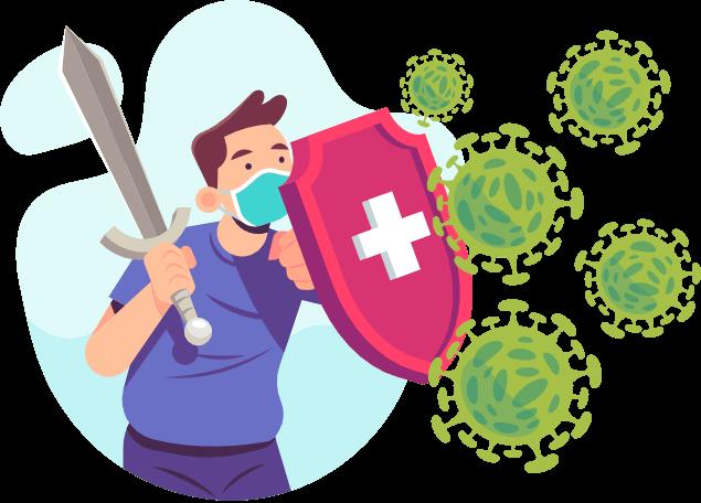 Uomo scudo virus