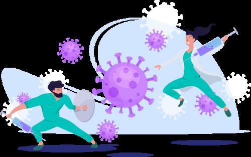 Medici combattono Coronavirus